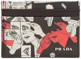Prada Comic-print cardholder