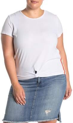 Planet Gold Rainbow Trim Scoop Neck T-Shirt (Plus Size)