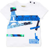 Kenzo Tiger Eye Graphic T-Shirt, White, Size 2-3