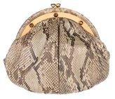 Judith Leiber Metallic Python Evening Bag