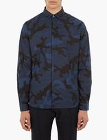 Valentino Blue Camouflage Cotton Shirt
