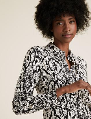 Marks and Spencer Snake Print Midi Shirt Dress