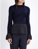 3.1 Phillip Lim Ruffled-cuff knitted jumper