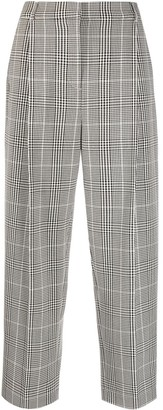 YMC Checked Straight-Leg Trousers