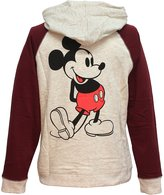 Mighty Fine Disney Classic Mickey Mouse 28 Raglan Womens Lightweight Pullover Hoodie
