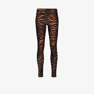 The Upside Womens Black Tiger Print Leggings
