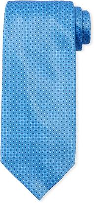 Stefano Ricci Men's Small Squares Silk Tie