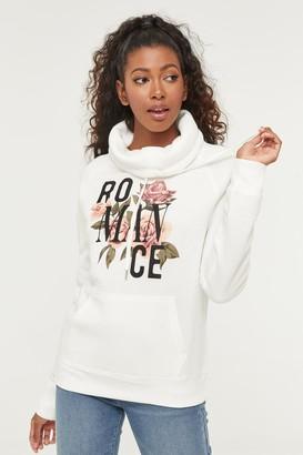 Ardene Floral Cowl Neck Sweater