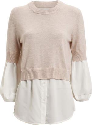 Brochu Walker Ebella Layered Crewneck Sweater