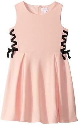 BCBGMAXAZRIA Girls Liverpool Side Lace-Up Dress (Big Kids)