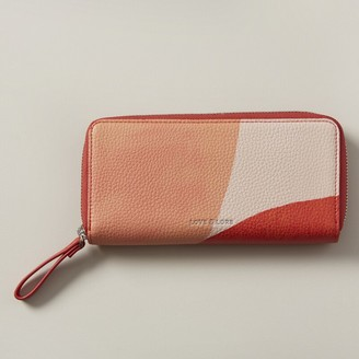 Love & Lore Love And Lore Eden Continental Wallet Blush Block