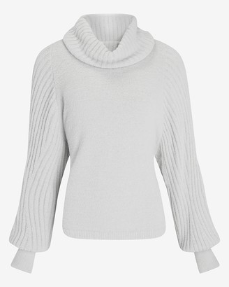Express Ribbed Cowl Neck Sweater