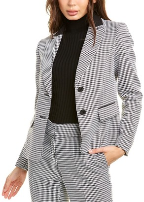 Kasper Textured Houndstooth Jacket