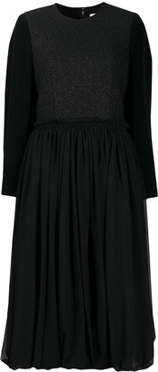Comme des Garcons Panelled Dress With Gathered Skirt