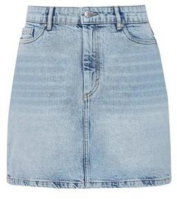 Dorothy Perkins Womens Only Light Blue Denim Skirt, Blue