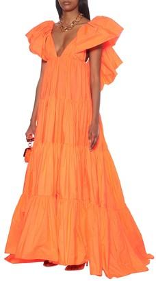 Valentino Ruffled taffeta gown
