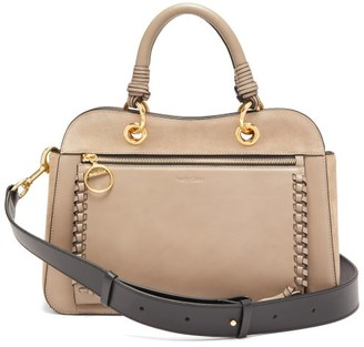 See by Chloe Tilda Whipstitched Leather Bag - Womens - Grey