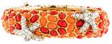 Kenneth Jay Lane Coral & Crystal Starfish Bracelet