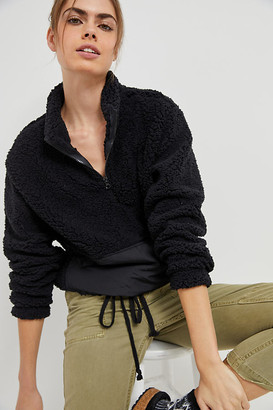 RD Style Dreamy Plush Quarter-Zip Pullover By in Black Size XS