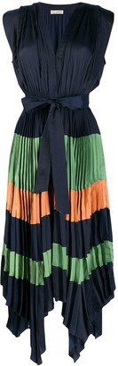 Ulla Johnson Color-Block Pleated Dress
