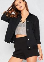 Missy Empire Connie Black Boyfriend Denim Jacket