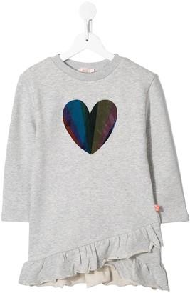 Billieblush Rainbow-Sequin Heart Dress
