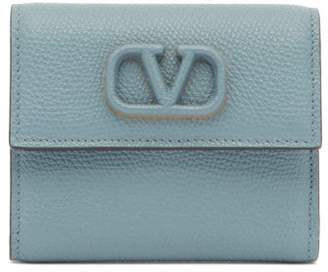Valentino V-sling Leather Wallet - Womens - Blue