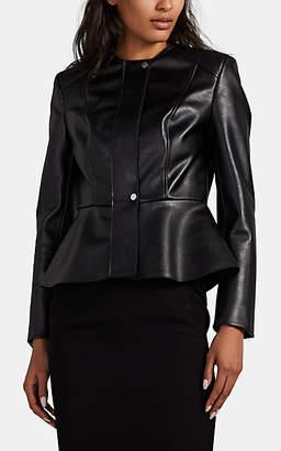 HIRAETH Women's Edith Faux Leather Peplum Jacket - Black