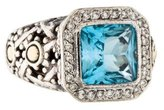John Hardy Two-Tone Topaz & Diamond Batu Sari Ring