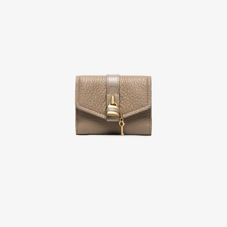 Chloé grey Aby Lock small leather wallet