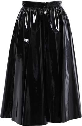 MSGM Faux Patent-leather Midi Skirt