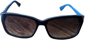 Diane von Furstenberg Blue Plastic Sunglasses
