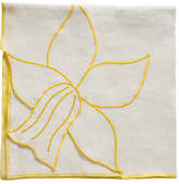 Joanna Buchanan Set of 2 Daffodil Dinner Napkins - Cream/Yellow