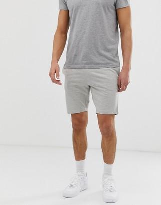 ONLY & SONS drawstring jersey shorts in light gray melange