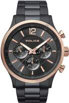 Police Police Feral Black Multi Dial Black Stainless Steel Bracelet Gents Watch