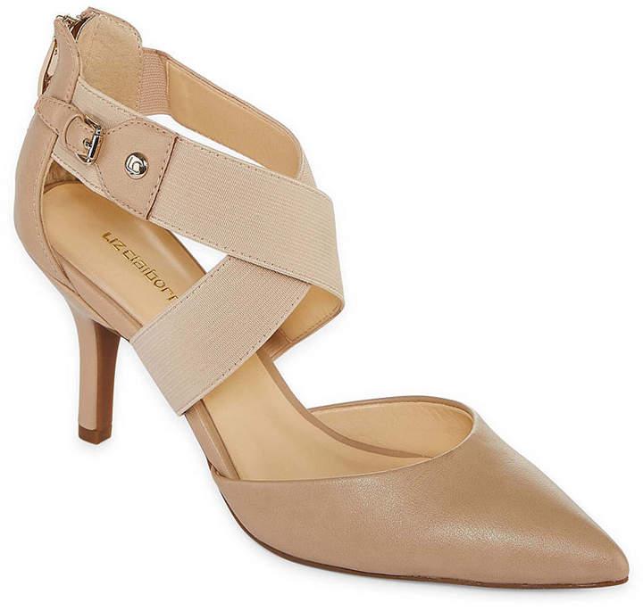 Liz Claiborne Womens Keegan Pumps Elastic Pointed Toe Stiletto Heel