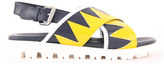 Marni Piuma Crossed Leather Sandals