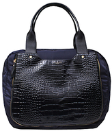Kurt Geiger Leather Mix Tote Bag, Black / Blue
