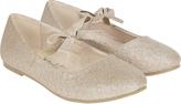Accessorize Glitter Bow Ballerina Shoes