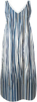 Stephan Schneider striped midi dress - women - Cotton - M