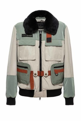 Mr & Mrs Italy Utility Bomber With Fur Hood Trim
