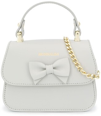 MonnaLisa Bow Detail Logo Tote Bag