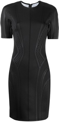 Thierry Mugler Fitted Textured Cocktail Dress