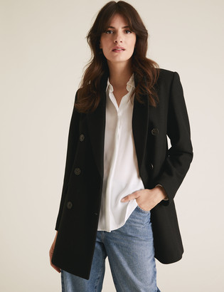 Marks and Spencer Double Breasted Blazer Coat with Wool
