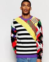 Love Moschino Crazy Stripe Jumper