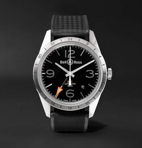 Bell & Ross Br 123 42mm Steel And Rubber Watch
