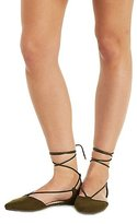 Charlotte Russe Bamboo Lace-Up Pointed Toe Flats
