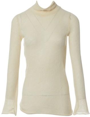 Miu Miu Ecru Wool Top for Women