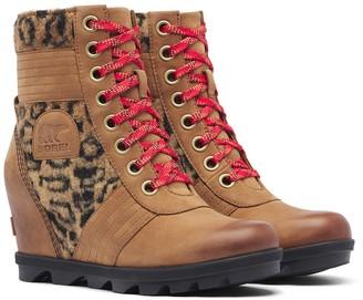 Sorel Lexie Faux Fur Paneled Wedge Boot