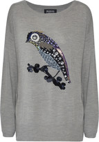 Markus Lupfer Harriet embellished merino wool sweater